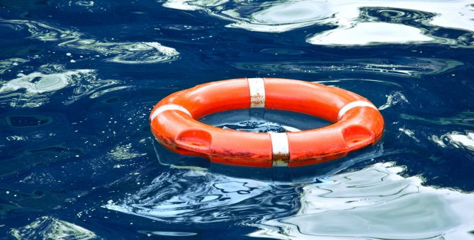 Lifebuoy in the water