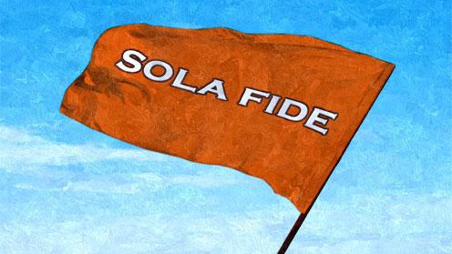 sola fide flag